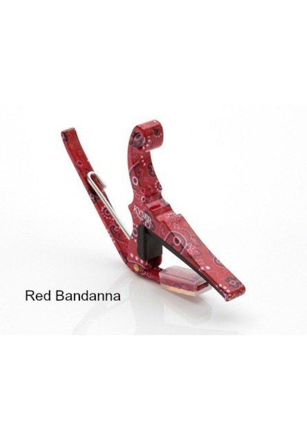 Kyser Quick Change Acoustic Capo - Red Bandanda