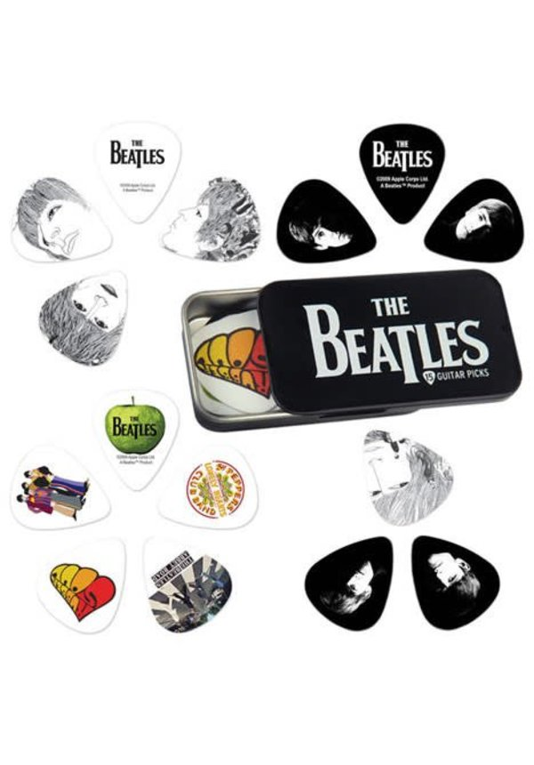 BEATLES PICK TIN -LOGO