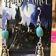 Harry Potter Lantern Earrings W/Turquoise Beads