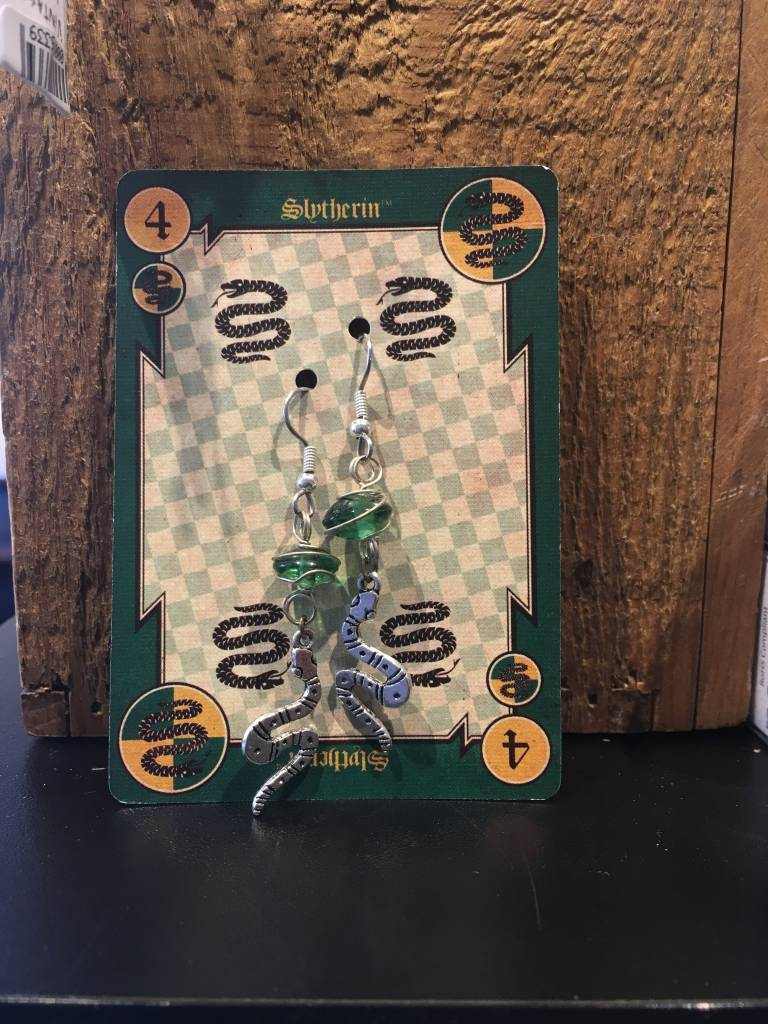 Green Czech Glass With Sterling Silver Wrap Beaded Earrings