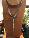 Mischeif & Magic Beaded Wand Necklace Lampwork Glass & Vintage Chain