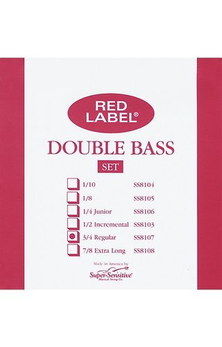 Red Label Double Bass Set 3/4