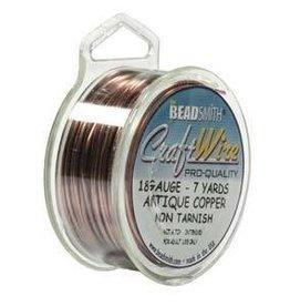 7 YD 18GA Craft Wire : Antique Copper