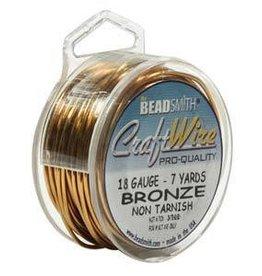 7 YD 18GA Craft Wire : Bronze