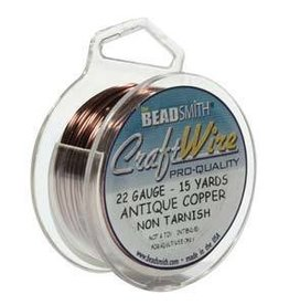 15 YD 22GA Craft Wire : Antique Copper