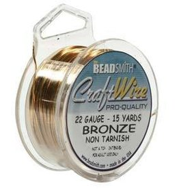 15 YD 22GA Craft Wire : Bronze