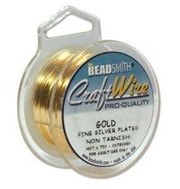 8 YD 22GA Non Tarnish Craft Wire : Gold