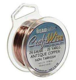 20 YD 24GA Craft Wire : Antique Copper