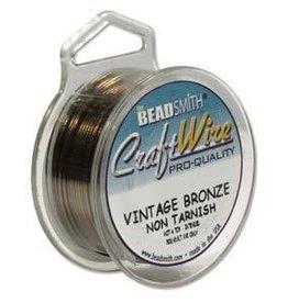 20 YD 24GA Craft Wire : Vintage Bronze