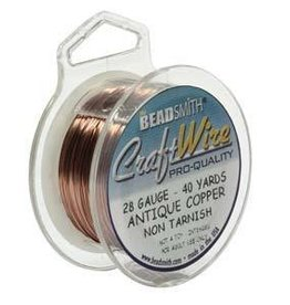 40 YD 28GA Craft Wire : Antique Copper