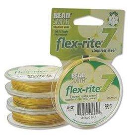 """30FT .012"""" Flex-Rite 7 Strand : Satin Gold"""