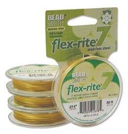 """30 FT .014"""" Flex-Rite 7 Strand : Satin Gold"""