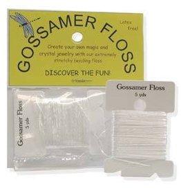 """5 YD .013"""" Gossamer Floss : Opaque White"""