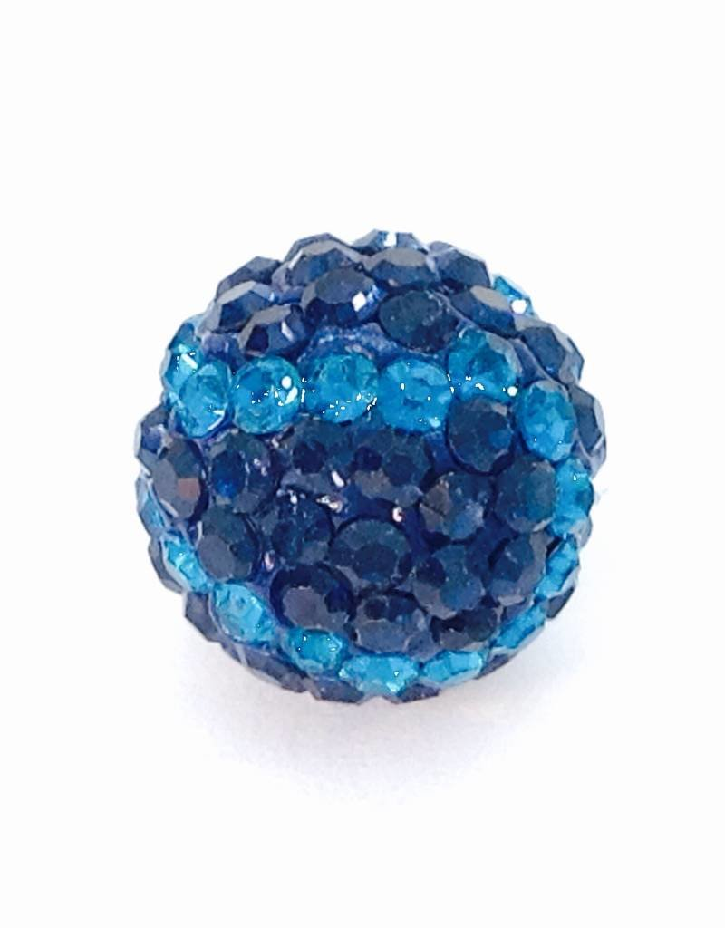 1 PC 12mm Mariners Bling Baseball Bead