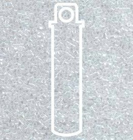 DB231- 11/0 DELICA LINED CRYSTAL/WHITE LUSTER APRX 7.2 GM