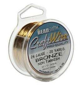 20 YD 24GA Craft Wire : Bronze