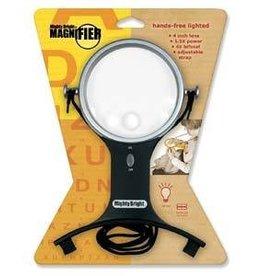 """4"""" Round Lighted Handsfree Magnifier"""