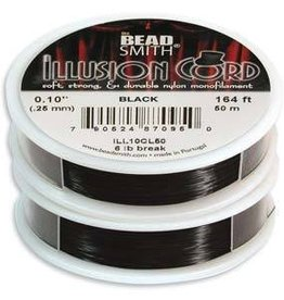 50 Meter Illusion Cord .010 Diameter : Black