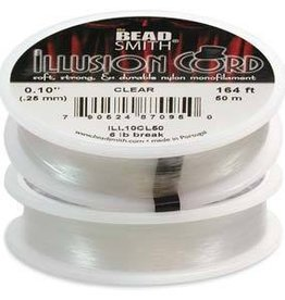 50 Meter Illusion Cord .010 Diameter : Clear