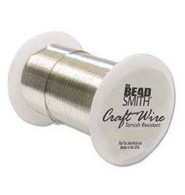 30 YD 24GA Non Tarnish Craft Wire : Silver