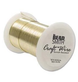 20 YD 22GA Non Tarnish Craft Wire : Gold