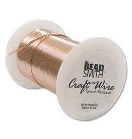 40 YD 28GA Non Tarnish Craft Wire : Copper