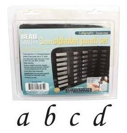 27 PC 3mm Calligraphic Lowercase Letter Punch Set with Case