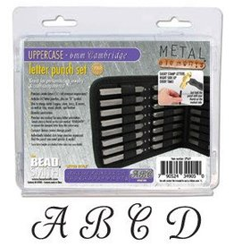 27 PC 6mm Cambridge Uppercase Letter Punch Set with Case