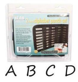 27 PC 2mm Handwritten Uppercase Letter Punch Set with Case
