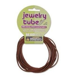 5 YD 2mm Jewelry Tube : Brown