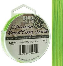 5 Meter 1.5mm Knotting Cord : Neon Green
