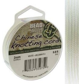 3 Meter 2mm Knotting Cord : White