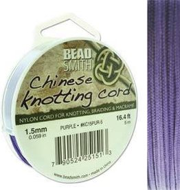 5 Meter 1.5mm Knotting Cord : Purple
