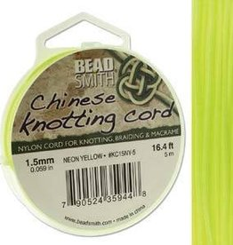 5 Meter 1.5mm Knotting Cord : Neon Yellow