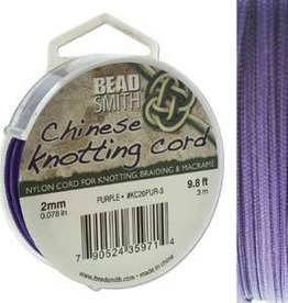 3 Meter 2mm Knotting Cord : Purple