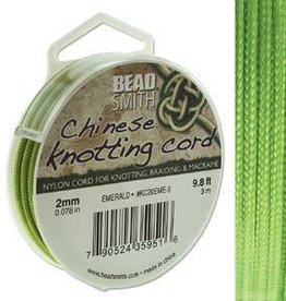 3 Meter 2mm Knotting Cord : Emerald