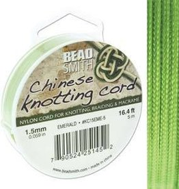 5 Meter 1.5mm Knotting Cord : Emerald