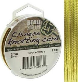 3 Meter 2mm Knotting Cord : Taupe