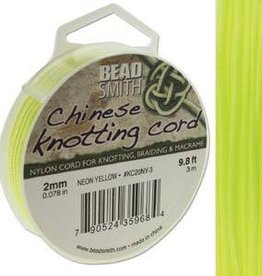 3 Meter 2mm Knotting Cord : Neon Yellow