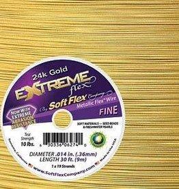 """30 FT .014"""" Extreme Flex : 24KT Gold"""