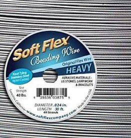 "30 FT .024"" Soft Flex : Satin Silver"
