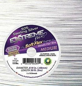 """30 FT .019"""" Extreme Flex : Sterling Silver"""