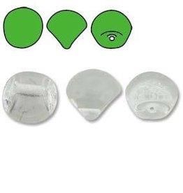 50 PC 6x5mm Mushroom Bead : Crystal