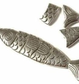 6 PC ASP 70x15mm Large Segmented Fish Bead