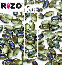 10 GM 2.5x6mm Rizo : Peridot Blue Iris (APX 150 PCS)