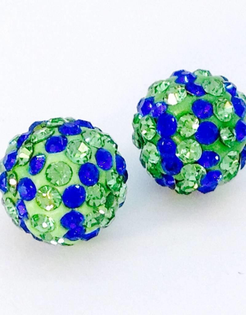 2 PC 10mm Seahawks Bling Ball Lime/Royal Blue