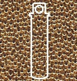 10 GM 6/0 Metal Seed Bead : 24KT Gold Plate