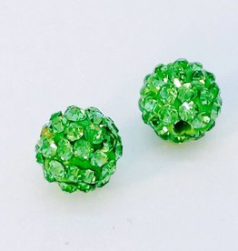 2 PC 8mm Bling Ball Lime Green
