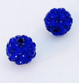 2 PC 8mm Bling Ball Royal Blue
