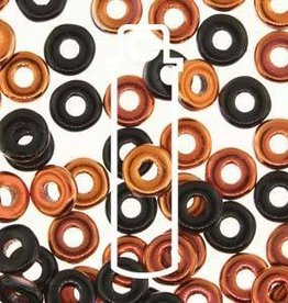 10 GM 3.8x1mm O Bead : Jet Sunset (APX 350 PCS)
